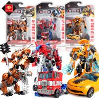 变形玩具金刚5 大黄蜂坦克警车恐龙变形汽车机器人男孩礼物玩具