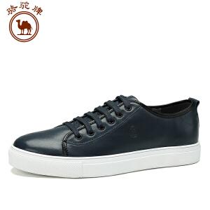 骆驼牌男鞋新品舒适时尚百搭板鞋日常休闲男士鞋子耐磨系带低帮