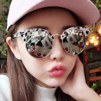 新款偏光太阳镜男女时尚彩膜反光镜复古大框墨镜开车驾驶镜