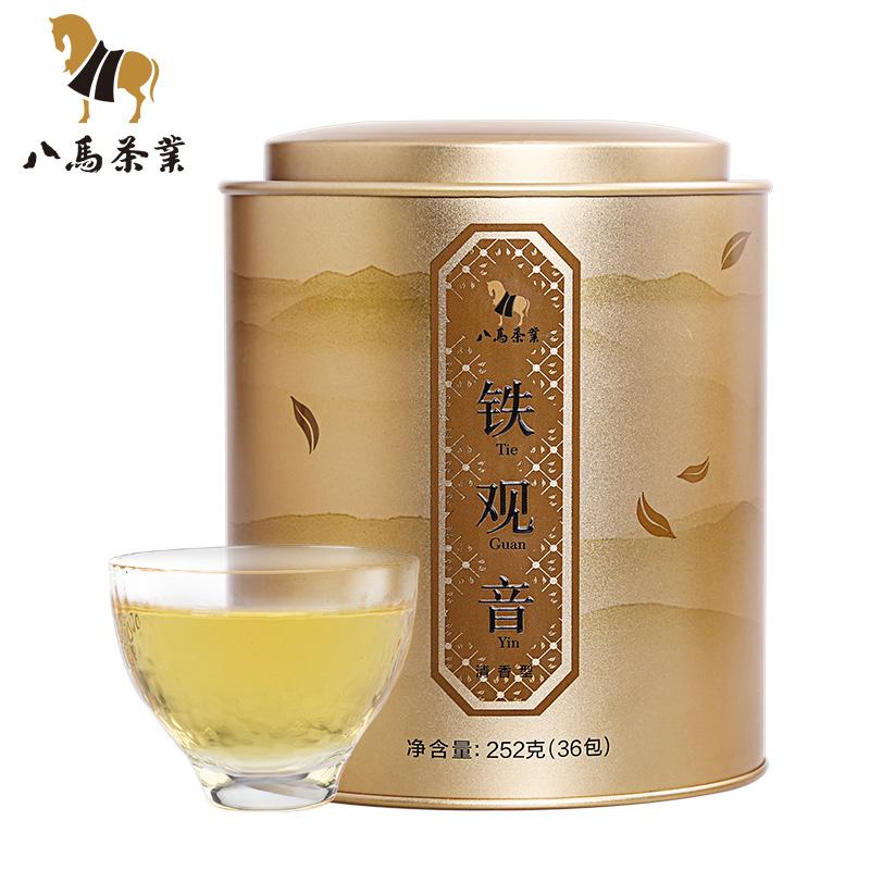 八马茶业 乌龙茶铁观音清香型茶叶 安溪乌龙茶铁观音罐装252g