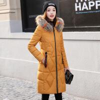 棉衣女中长款韩版羽绒长过膝外套2018冬季新款女士时尚棉袄潮