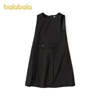 【3件4折价:70.4】巴拉巴拉女童连衣裙儿童公主裙春装童装大童A字裙简约酷