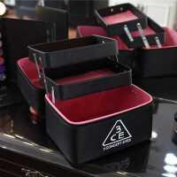 化妆包韩国大容量可爱女士多层收纳包化妆箱旅行便携手提箱式