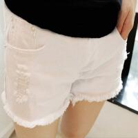 2018夏季破洞托腹裤薄款孕妇短裤夏孕妇白色牛仔短裤外穿孕妇短裤