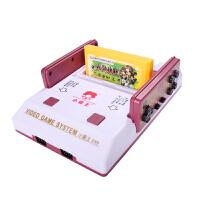 小霸王游戏机D99家用电视8位FC插黄卡带双人手柄怀旧红白机