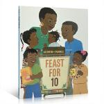 儿童读物英文原版 Feast for 10吴敏兰绘本123 第57本 育儿启蒙