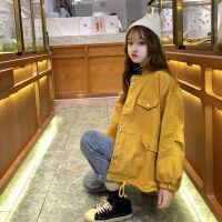 2019流行外套女韩版宽松秋装女装工装外套女休闲短款夹克学生 S 70-90