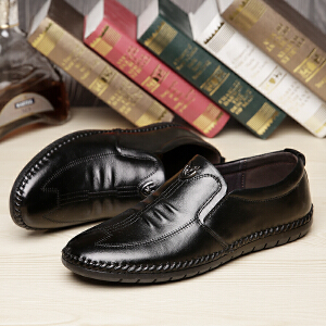 宜驰 EGCHI 休闲鞋男士套脚软底商务休闲皮鞋男士户外男鞋 20331