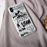 iPhone8plus手机壳xsmax卡通可爱女款XR苹果7软壳全包防摔6s情侣复古iPhoneX硅 黑白米奇--XS