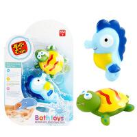 宝宝洗澡玩具漂浮软胶喷水捏捏 儿童戏水玩具女孩男孩婴儿水上 周岁生日圣诞节新年六一儿童节礼物