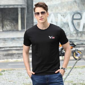 吉普盾9112夏装新款圆领短袖T恤衫 男士宽松休闲大码polo衫薄款