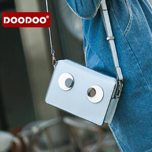 【支持礼品卡】DOODOO 迷你斜挎链条包包2017新款日韩个性女包百搭小方包眼睛小包 D6169