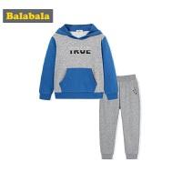 巴拉巴拉男童套装秋装中大童儿童两件套2017新款时尚长袖套头衣裤