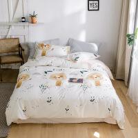 【人气】儿童卡通纯棉四件套可爱男孩全棉被套床单三件套女童床笠床上用品