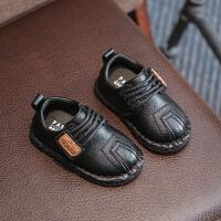 婴幼儿6-12个月秋季男童宝宝学步鞋子儿童软底小皮鞋