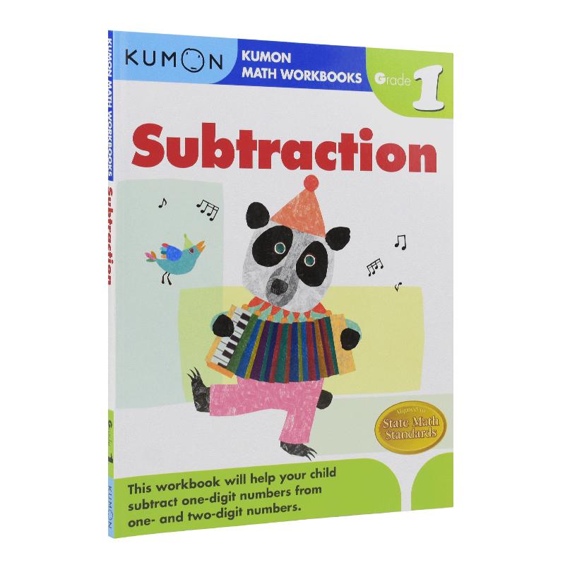 Kumon Math Workbooks Subtraction Grade 1 公文式教育 小学一年级数学减法练习册 学习教辅 6-7岁 儿童英文原版图书