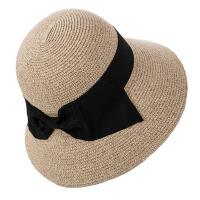 女夏天草帽女可折叠蝴蝶结遮阳帽防晒帽大沿沙滩帽太阳帽