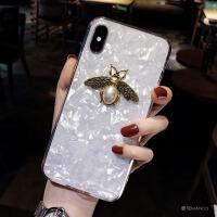 贝壳小蜜蜂xs max苹果x手机壳xr软硅胶8plus潮牌iphone6s新款7p女 6/6S 4.7寸 白色