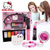 凯蒂猫儿童化妆品 闪亮彩妆组合套装礼物 女孩口红唇彩眼影腮红