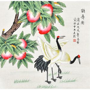 中央美院  凌雪鹤寿图gh03703