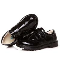 男童皮鞋黑色真皮英伦春季新款2018儿童单鞋软底学生大码演出鞋子