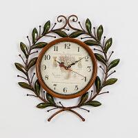 御目 挂钟 卧室客厅静音现代装饰创意欧式复古挂表家居日用连理枝墙贴钟时尚个性钟表挂件