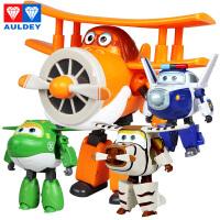奥迪双钻超级飞侠玩具大号变形机器人全套装小飞侠玩具 包警长 胡须爷爷 卡文 小青
