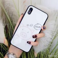 玻璃小仙女猪苹果x手机壳硅胶7plus潮牌iphone8可爱卡通6s新款女 6/6S 4.7寸