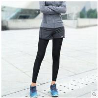 健身速干女跑步假两件弹力紧身瑜伽裤运动长裤 可礼品卡支付
