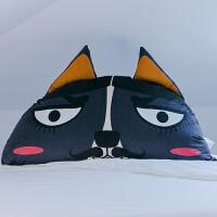 卡通床上大靠背水晶绒床靠垫抱枕双人靠枕大靠垫床头含芯 1.4m*1.02