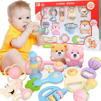 【2件5折】婴幼儿童早教益智磨牙胶摇铃0-3-6-12个月新生儿宝宝手摇铃床铃礼盒套装玩具0-1岁