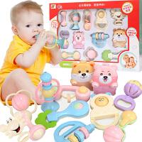 【悦乐朵玩具】婴幼儿童早教益智磨牙胶摇铃0-3-6-12个月新生儿宝宝手摇铃床铃礼盒套装玩具0-1岁