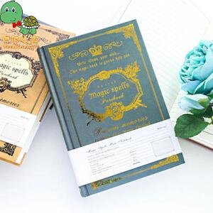 乌龟先森 笔记本 欧式复古厚款魔法书日记记事本子烫金花纹古典礼品办公学习用品创意文具