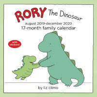 英文原版 罗力小恐龙2019年8月-2020全年挂历 贴纸 Liz Climo你今天真好看 日程计划日历 Rory t