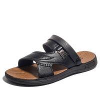 【质保一年】【40-47码】夏季男士凉拖鞋夏天软底透气大码男凉鞋 46 【偏小一码】
