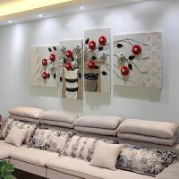 现代简约客厅3d立体装饰画高档沙发背景墙壁画无框画卧室墙上挂画SN3652 浅灰色 260*100 整套