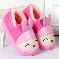 新款男女儿童宝宝包跟防水保暖学步鞋防滑棉拖鞋婴儿毛毛棉鞋