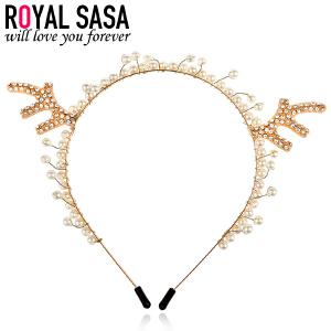 皇家莎莎RoyalSaSa可爱萌款头饰人造水晶发夹 压发箍手工串珠发卡子小鹿发饰头箍HS1407SP731