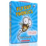 英文原版绘本 Fly Guy Phonics Boxed Set 苍蝇小子12本自然拼读礼盒装 儿童阅读启蒙10册趣味