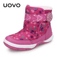 UOVO新款儿童雪地靴儿童靴子防泼水秋冬女童单靴男童雪地靴小中大童保暖棉靴童鞋 亚美尼亚