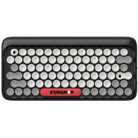 洛斐 DOT圆点蓝牙机械键盘 无线复古键盘 iPad苹果笔记本键盘熊本套装