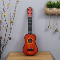 儿童吉他可弹奏乐器梦幻木纹益智仿真钢弦尤克里里早教玩具 生日礼物六一圣诞节新年礼品