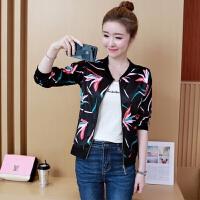 长袖薄款短外套女2019春秋季韩版宽松修身型显瘦大码小外套夹克上衣
