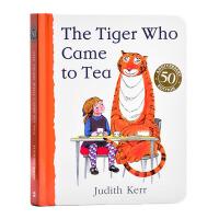 【中商原版】老虎来喝下午茶 英文原版 The Tiger Who Came to Tea 纸板书 儿童趣味故事绘本 3