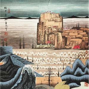 薛亮《山水图》著名画家