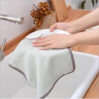 素雅加厚菠萝纹抹布 居家清洁多用百洁布 厨房加厚珊瑚绒吸水清洁布