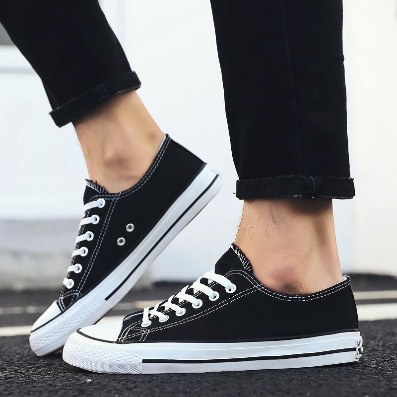 夏季男士帆布鞋男鞋休闲鞋男韩版学生经典布鞋潮板鞋情侣小白鞋子