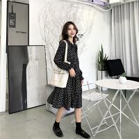 时尚套装女装2018新款韩版连衣裙针织马甲毛衣裙子早秋网红两件套 均码