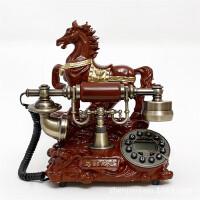 至臻马到成功时尚创意欧式田园复古电话机 仿古电话机 家用座机