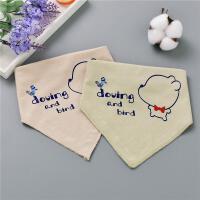 新款厂家直供卡通宝宝彩棉三角巾新生儿口水巾围嘴婴幼儿用品